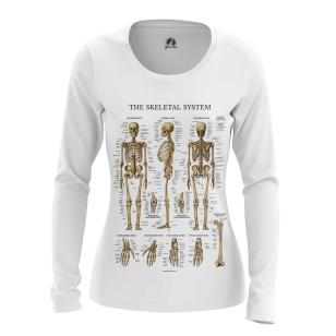 Женский Лонгслив Скелет человека - купить в teestore