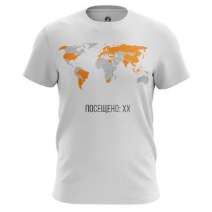 Футболка Travel map (укажите ваши страны в комментарии) - купить в teestore. Доставка по РФ