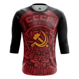 Мужской Реглан 3/4 СССР красная - купить в teestore