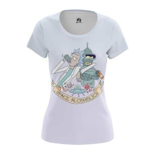 Женские Женские футболки Алкоголики. Доставка по всей России