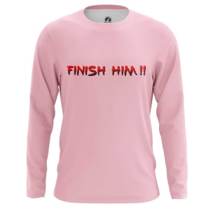 Мужской Лонгслив Finish him - купить в teestore
