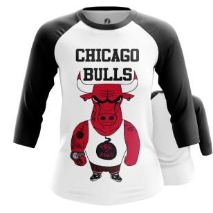 Женский Реглан 3/4 Chicago Bulls - купить в teestore
