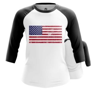 Женский Реглан 3/4 Флаг США - купить в teestore