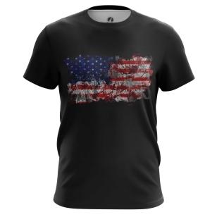 Футболка Американский флаг - купить в teestore. Доставка по РФ