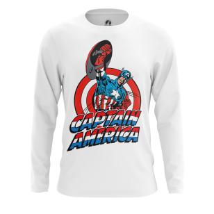 Мужской Лонгслив Капитан Америка Первый - купить в teestore