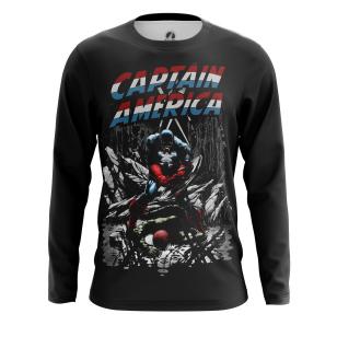 Мужской Лонгслив Капитан Америка Гражданская война - купить в teestore