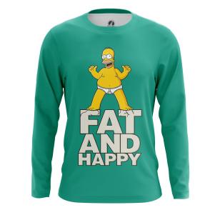 Мужской Лонгслив Fat and happy - купить в teestore