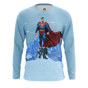 Мужской Лонгслив Pixel Superman - купить в teestore
