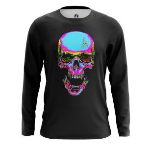 Мужской Лонгслив Rainbow skull - купить в teestore