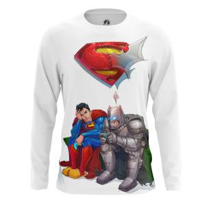 Мужской Лонгслив Бэтмен и Супермен - купить в teestore