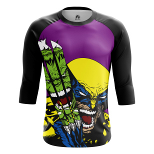 Мужской Реглан 3/4 Hulk vs Wolverine - купить в teestore