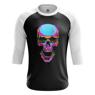 Мужской Реглан 3/4 Rainbow skull - купить в teestore