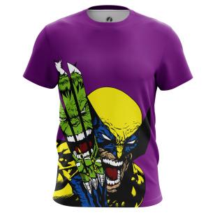 Футболка Hulk vs Wolverine - купить в teestore. Доставка по РФ
