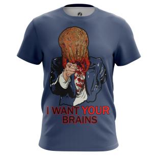 Футболка I want your brains купить