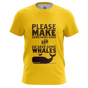 Футболка Whale - купить в teestore. Доставка по РФ