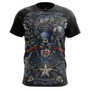 Мужские Футболки Капитан Америка 4. Доставка по всей России