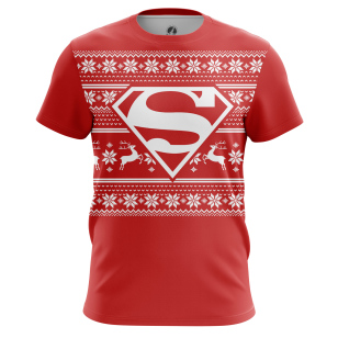Мужские Футболки Супермен Новогодний. Доставка по всей России