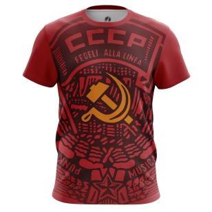Футболка СССР красная - купить в teestore. Доставка по РФ