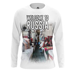 Мужской Лонгслив Welcome to Russia - купить в teestore