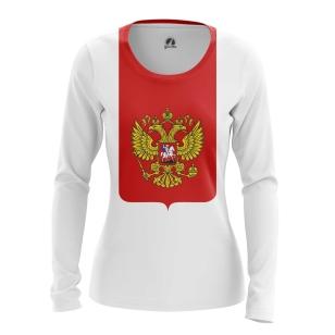 Женский Лонгслив Герб России - купить в teestore