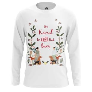 Мужской Лонгслив Be kind to animals - купить в teestore