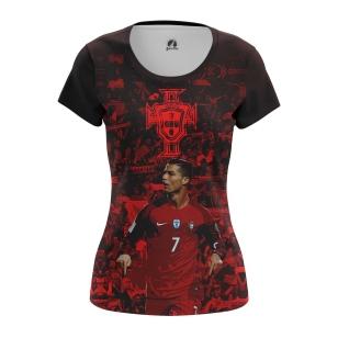 Женская Футболка Роналду Португалия - купить в teestore
