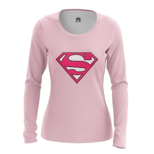 Женский Лонгслив Superman pink logo - купить в teestore
