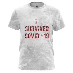 Футболка I survived COVID-19 - купить в teestore. Доставка по РФ