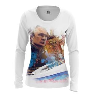 Женский Лонгслив С Путиным - купить в teestore