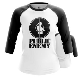 Женский Реглан 3/4 Public Enemy logo - купить в teestore