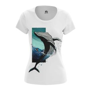 Женская Футболка Синий кит - купить в teestore