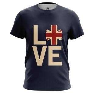 Футболка I love Britain - купить в teestore. Доставка по РФ