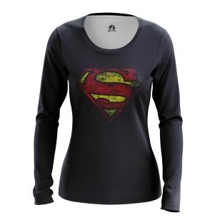 Женский Лонгслив Супермен логотип - купить в teestore