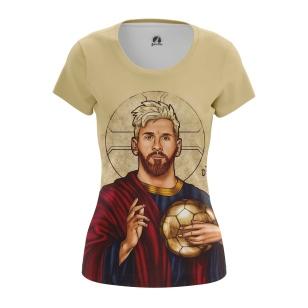 Женские Женские футболки St. Messi. Доставка по всей России