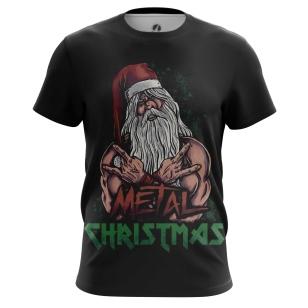 Мужские Футболки Metal Christmas. Доставка по всей России