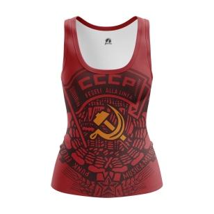 Женская Майка СССР красная - купить в teestore