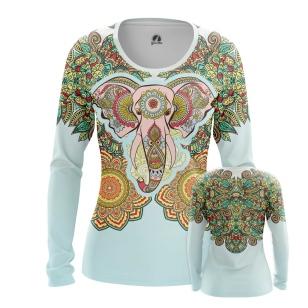 Женский Лонгслив Elephant Art - купить в teestore