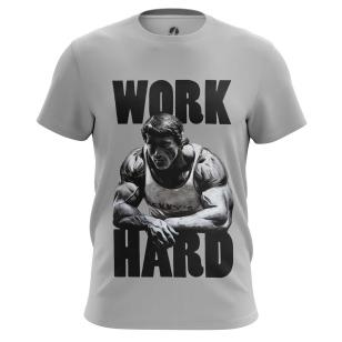 Футболка Work hard - купить в teestore. Доставка по РФ