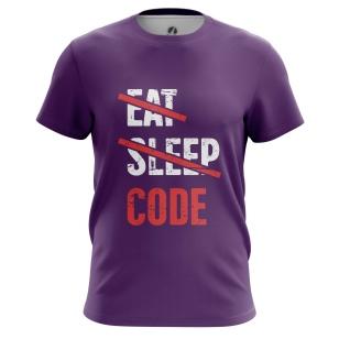 Футболка Eat sleep code - купить в teestore. Доставка по РФ