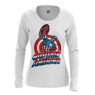 Женский Лонгслив Капитан Америка Первый - купить в teestore