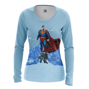 Женский Лонгслив Pixel Superman - купить в teestore