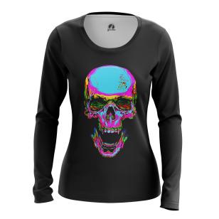 Женский Лонгслив Rainbow skull - купить в teestore