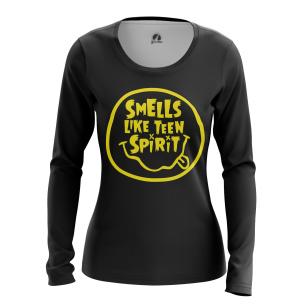 Женский Лонгслив Smells Like Teen Spirit - купить в teestore