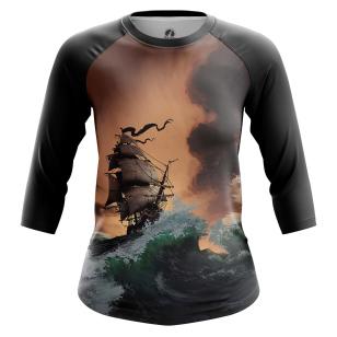 Женский Реглан 3/4 Пираты Карибского моря - купить в teestore