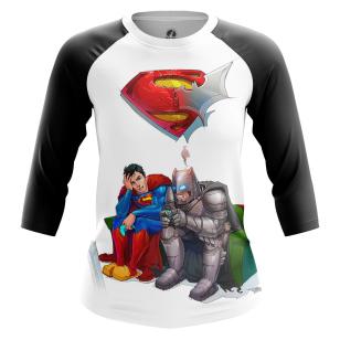 Женский Реглан 3/4 Бэтмен и Супермен - купить в teestore