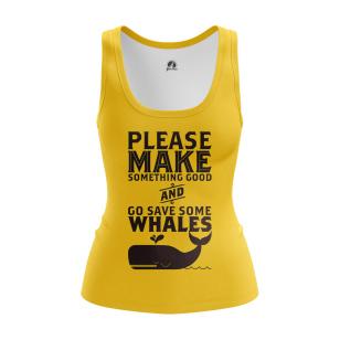 Женская Майка Whale - купить в teestore