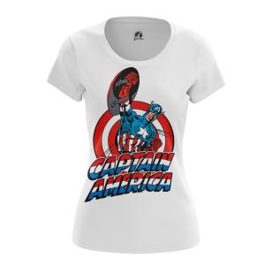 Женские Женские футболки Капитан Америка Первый. Доставка по всей России