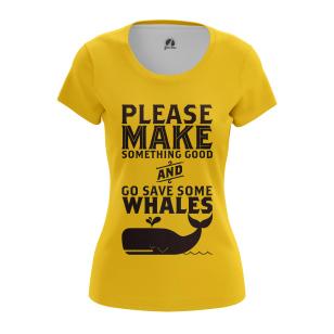 Женская Футболка Whale - купить в teestore