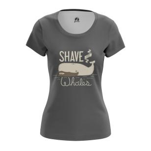 Женская Футболка Shave the whales - купить в teestore