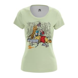 Женские Женские футболки Тигр у Пуха. Доставка по всей России